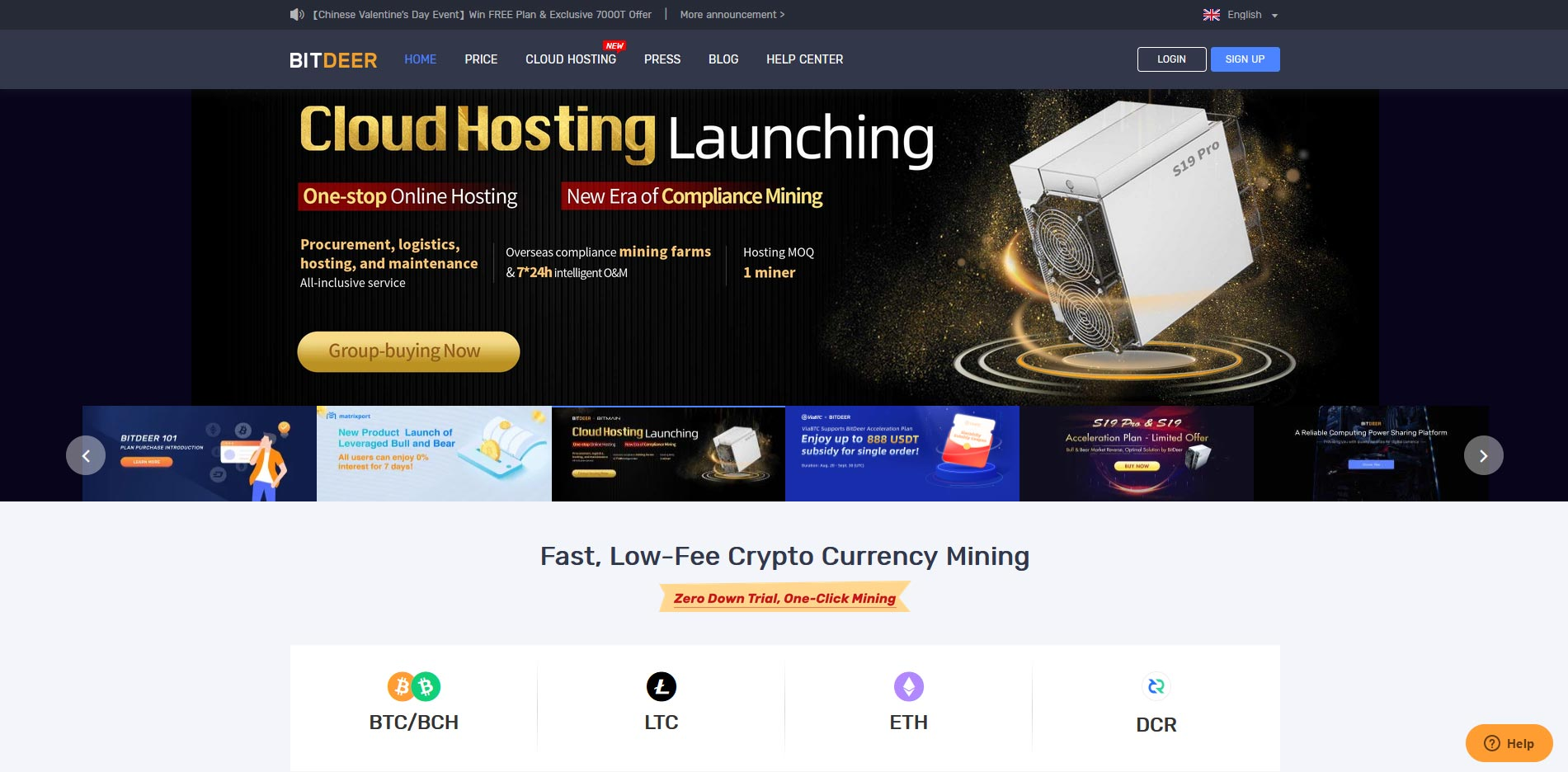 bitdeer cloud mining